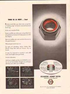 elastic stop nut corp 1943 this is a nut but locking ring vintage ad