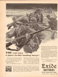 electric storage battery co 1943 earn place landing barge vintage ad