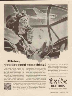 electric storage battery co 1943 mister dropped something vintage ad