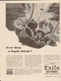 electric storage battery co 1943 ever drop depth charge ww2 vintage ad