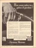 general motors 1943 how many miles gallon gasoline ww2 vintage ad