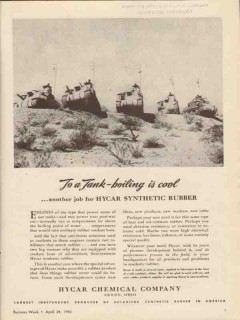 hycar chemical company 1943 tank boiling synthetic rubber vintage ad