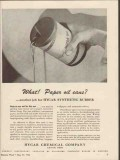 hycar chemical company 1943 paper oil cans synthetic rubber vintage ad
