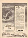 hycar chemical company 1943 oil resistance synthetic rubber vintage ad
