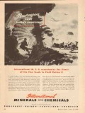 international minerals chemical co 1943 msg field ration k vintage ad