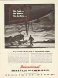 international minerals chemical co 1943 food plane bullets vintage ad