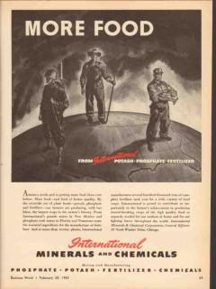 international minerals chemical co 1943 more food potash vintage ad
