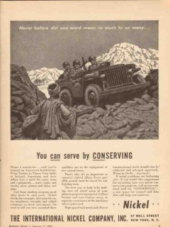 international nickel company 1943 serve by conserving ww2 vintage ad