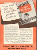 lyon metal products inc 1943 help you get war contracts ww2 vintage ad