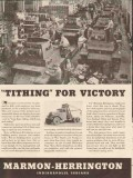 marmon-herrington 1943 employees tithing for victory ww2 vintage ad