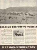 marmon-herrington 1943 leading the way to tunisia ww2 truck vintage ad