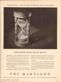 maryland casualty company 1943 how many days in an hour ww2 vintage ad