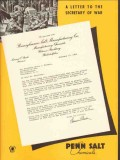 pennsylvania salt mfg company 1943 letter secretary war ww2 vintage ad