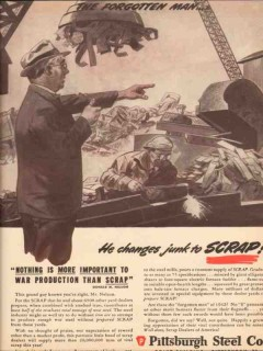 pittsburgh steel company 1943 donald m nelson forgotten man vintage ad