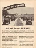 portland cement association 1943 concrete today tomorrow vintage ad