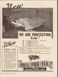 philadelphia textile finishers 1943 we are protecting him vintage ad