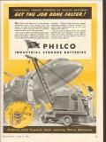 philco corp 1943 xl storage battery industrial trucks power vintage ad