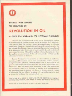 business week 1943 revolution in oil guide postwar planning vintage ad