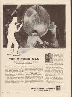 scott paper company 1943 reduce sickness sanitary washroom vintage ad