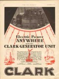 Clark Brothers Company 1929 Vintage Ad Oil Electric Power Generator