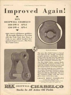 Chain Belt Company 1929 Vintage Ad Oil Rex Deepwell Chabelco Improved
