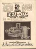 Ajax Iron Works 1930 Vintage Ad Engine Power Plus Latest Piston Valve