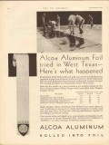 aluminum company of america 1930 foil west texas tanks cars vintage ad
