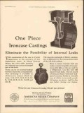 american meter company 1930 one piece ironcase castings oil vintage ad