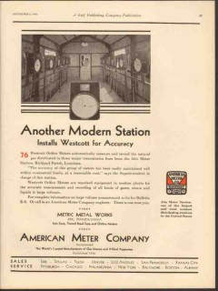 american meter company 1930 modern station install westcott vintage ad