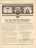 american meter company 1930 get information gas measurement vintage ad