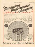 American Meter Company 1930 Vintage Ad Measuring Performance Champion