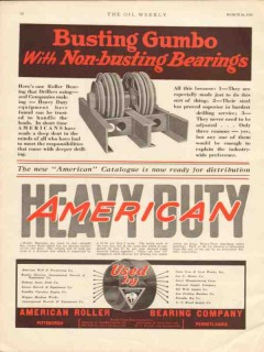 american roller bearing co 1930 busting gumbo heavy duty vintage ad