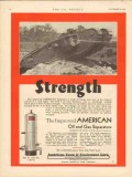 American Tank Equipment Co 1930 Vintage Ad Strength Oil Gas Separators