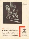 Axelson Mfg Company 1930 Vintage Ad Oil Ground Wearing Surfaces Pumps