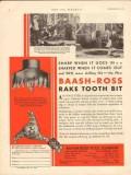 Baash-Ross Tool Company 1930 Vintage Ad Oil Elwood Expl Rake Tooth Bit