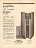 Baker Oil Tools Inc 1930 Vintage Ad Designed Float Valve Well Cement