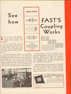 Bartlett Hayward Company 1930 Vintage Ad Oil Gas Fasts Coupling Works
