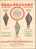Beaumont Iron Works Company 1930 Vintage Ad Oil Field Tubing Blocks