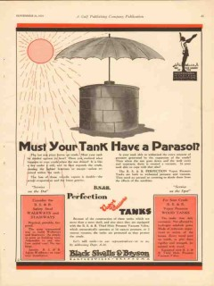 Black Sivalls Bryson Inc 1930 Vintage Ad Oil Must Tank Have Parasol