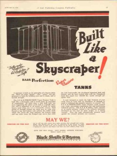 Black Sivalls Bryson Inc 1930 Vintage Ad Oil Tanks Built Skyscraper