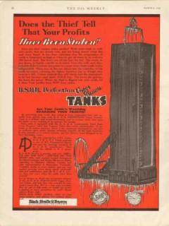 Black Sivalls Bryson Inc 1930 Vintage Ad Oil Tank Thief Profits Stolen