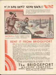 Bridgeport Machine Company 1930 Vintage Ad Oilfield Hychrome Come Back