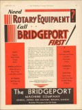 Bridgeport Machine Company 1930 Vintage Ad Oil Rotary Equipment Need