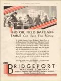 Bridgeport Machine Company 1930 Vintage Ad Oil Field Bargain Table