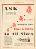 Brewster Company 1930 Vintage Ad Oil Drill Straight Hole Rock Bits Ask