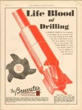 Brewster Company 1930 Vintage Ad Oil Life Blood Drilling Perfect Core