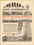Butler Mfg Company 1930 Vintage Ad Oil Field Steel Buildings Purposes