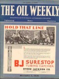 Byron Jackson Company 1930 Vintage Ad Oil Weekly Cover Surestop Tubing