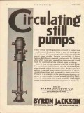 Byron Jackson Company 1930 Vintage Ad Oil Circulating Still Pumps