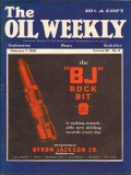 Byron Jackson Company 1930 Vintage Ad Oil Weekly Cover BJ Rock Bit